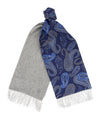 Grey Cashmere Reversible Scarf