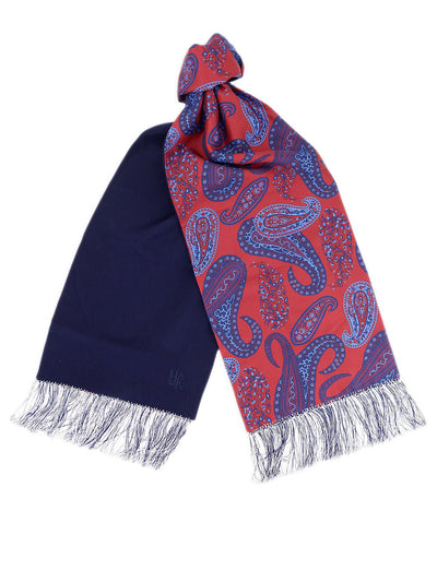 Navy Cashmere Reversible Scarf