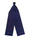 Navy with Orange Spots Silk Tubular Scarf