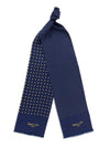 Navy with Yellow Spots Silk Tubular Scarf