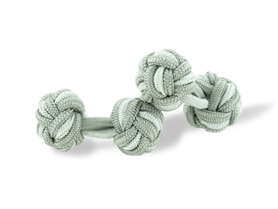 Dark Grey & White Knot Links