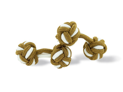Mid Brown & White Knot Links