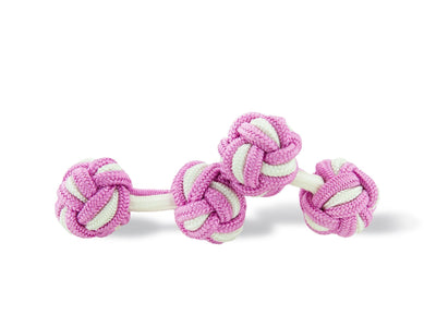 Lilac & White Knot Links