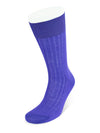 Short Plain Violet Cotton Socks