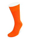 Short Plain Orange Cotton Socks