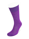 Short Plain Purple Cotton Socks