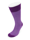 Short Purple Herringbone Cotton Socks