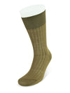 Short Plain Brown Cotton Socks
