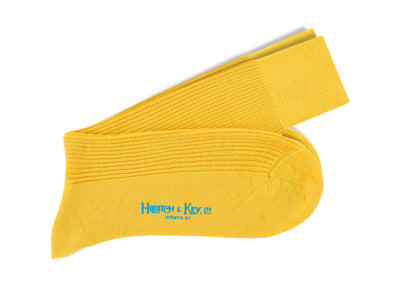 Short Yellow Wool Socks