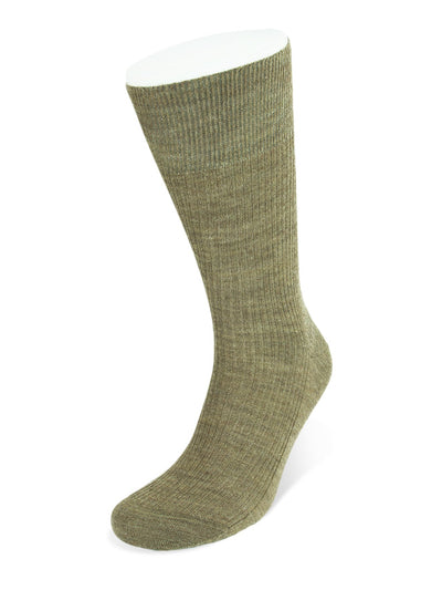 Chocolate Melange Wool Socks