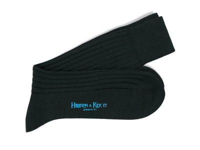 Short Black Wool Socks