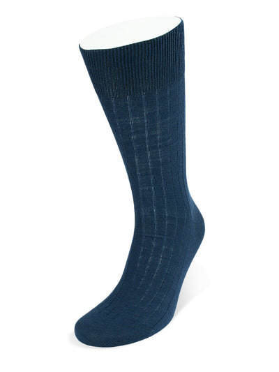 Short Navy Wool Socks
