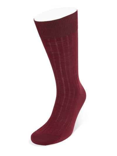 Short Wine Wool Socks