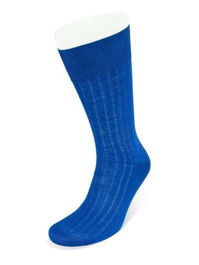 Short Plain Royal Cotton Socks