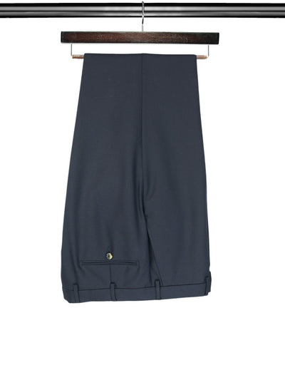 2 Piece, Plain Navy Single Breasted Suit