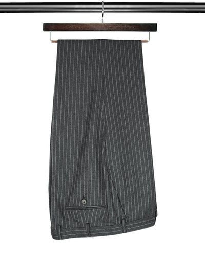 2 Piece, Grey Pinstriped Single Breasted Woollen & Cashmere Suit