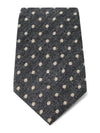 Grey with White Spots Woven Cashmere, Wool & Silk Tie