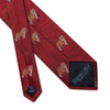 Big Cat Sanctuary Tiger  Woven Silk Tie In Red