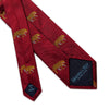 Big Cat Sanctuary Leopard Woven Silk Tie In Red