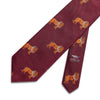 Big Cat Sanctuary Lion Woven Silk Tie In Burgundy