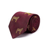 Big Cat Sanctuary Cheetah Woven Silk Tie In Burgundy