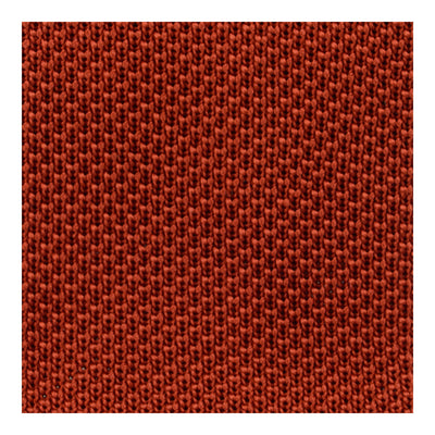 Plain Rust Knitted Silk Tie