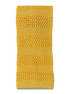 Yellow with Self Bar Stripes Knitted Silk Tie