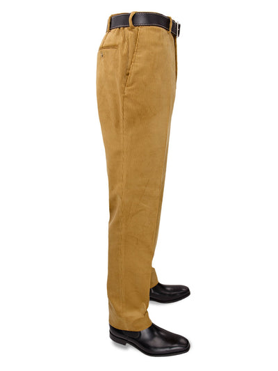 Tan Yellow Cotton Corduroy Trousers