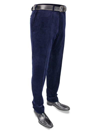 Navy Cotton Corduroy Trousers