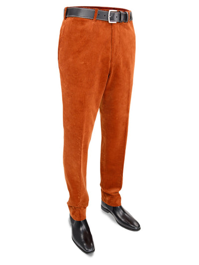 Rust Orange Cotton Corduroy Trousers