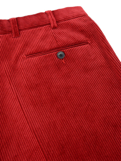 Red Cotton Corduroy Trousers