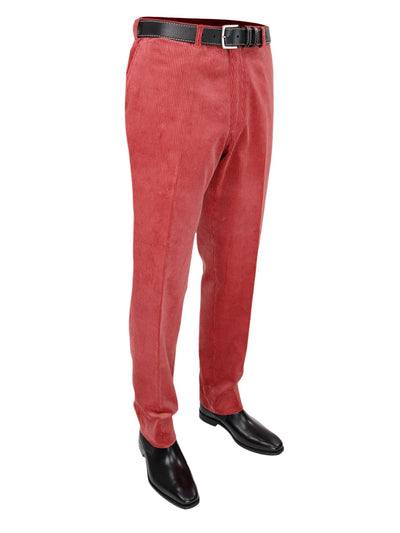Pink Cotton Corduroy Trousers