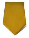 Plain Yellow Woven Silk Tie