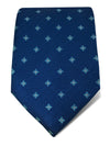 Navy Woven Silk Tie with Blue & White Diamonds