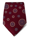 Red Woven Silk Tie with White & Blue Circles