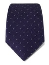 Purple Woven Silk Tie with White Spots