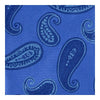 Royal Blue Woven Silk Tie with Blue & Navy Spaced Paisley