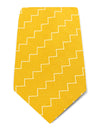 Gold Woven Silk Tie with White Herringbone