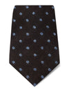 Brown with Blue Spots Woven Wool & Silk Tie