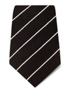 Brown with White Stripes Woven Wool & Silk Tie