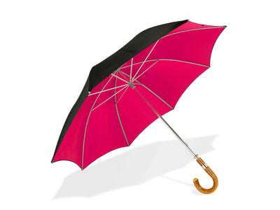 Black & Cerise Pink Golf Umbrella