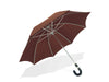 Brown Umbrella with Leather Handle