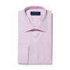 Classic Fit, Classic Collar, Double Cuff Shirt in a Pink & Navy Graph Overcheck Poplin Cotton