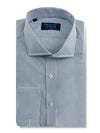 Classic Fit, Cut-away Collar, Double Cuff Shirt in a Blue & White Hairline Poplin Cotton