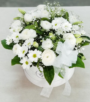 White flower for sympathy
