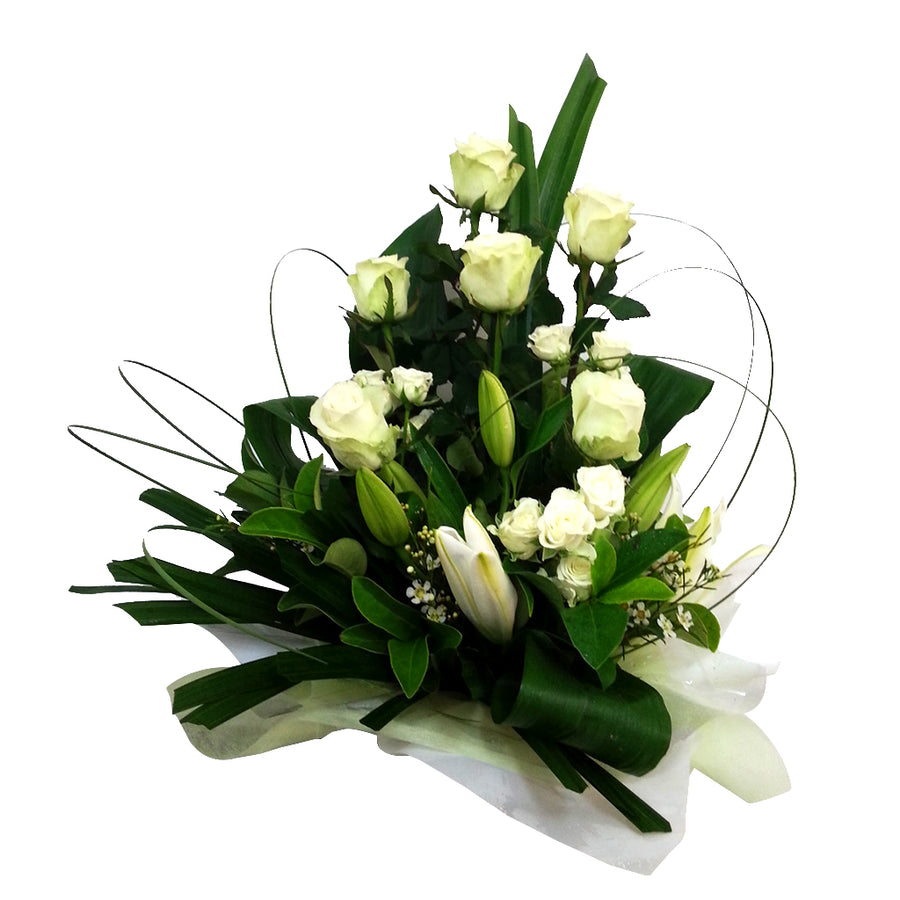White Roses and white Lily