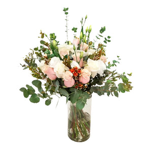 Rose Flowers Bouquet and rich green foliage