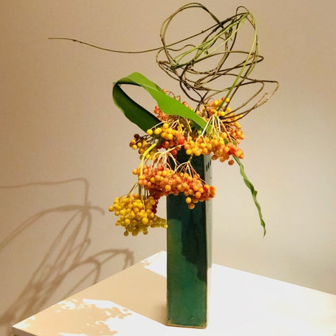 Sogetsu Ikebana flower arrangement in Art Gallery
