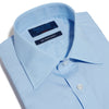 Classic Fit, Classic Collar, Double Cuff Shirt in a Plain Blue Sea Island Quality Poplin Cotton