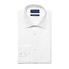 Classic Fit, Classic Collar, 2 Button Cuff Shirt in a Plain White Sea Island Quality Poplin Cotton